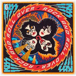 """Ace Frehley Signed Kiss """"Rock and Roll Over"""" Vinyl Record Album Cover (PSA COA)"""