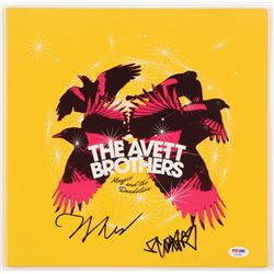 """Scott Avett  Seth Avett Signed The Avett Brothers """"Magpie and the Dandelion"""" Vinyl Record Album Cove"""