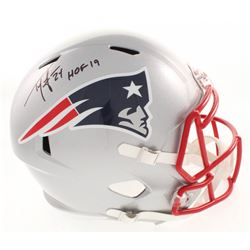 "Ty Law Signed New England Patriots Full-Size Speed Helmet Inscribed ""HOF 19"" (Beckett COA)"