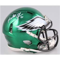 Randall Cunningham Signed Philadelphia Eagles Chrome Speed Mini-Helmet (Beckett COA)