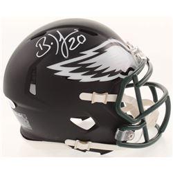Brian Dawkins Signed Philadelphia Eagles Matte Black Mini Speed Helmet (JSA COA)