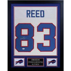 """Andre Reed 24x30 Custom Framed Jersey Display Inscribed """"HOF 14"""" (JSA COA)"""