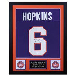 DeAndre Hopkins 24x30 Custom Framed Jersey Display (JSA COA)