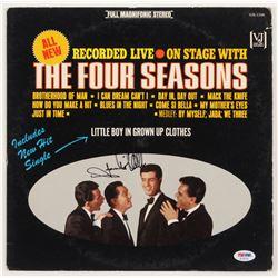"Frankie Valli Signed ""The Four Seasons"" Vinyl Record Album Cover (PSA COA)"