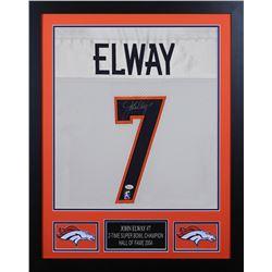 John Elway 24x30 Custom Framed Jersey Display (JSA COA  Elway Hologram)