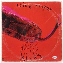 "Alice Cooper Signed ""Killer"" Vinyl Album Cover (PSA COA)"