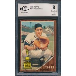 1962 Topps #218 Joe Torre RC (BCCG 8)