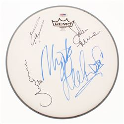 Drum Head Signed by (4) With Mickey Fleetwood, Lindsey Buckingham, Christie McVie  John McVie (PSA L
