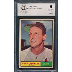 1961 Topps #290 Stan Musial (BCCG 9)