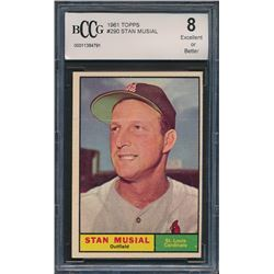 1961 Topps #290 Stan Musial (BCCG 8)