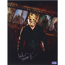 "Ari Lehman Signed Jason Voorhees 11x14 Photo Inscribed ""Jason 1"" (PA COA)"