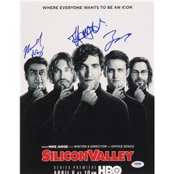 """Kumail Nanjiani, Thomas Middleditch  Zach Woods Signed """"Silicon Valley"""" 11x14 Photo (PSA LOA)"""