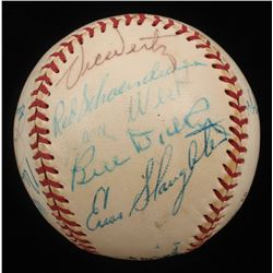Circa 1975 Hall of Famers  Stars ONL Baseball Signed by (19) with Enos Slaughter, Red Schoendienst,