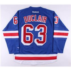 Anthony Duclair Signed New York Rangers Jersey with Multiple Inscriptions (Duclair COA)