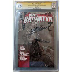 "Garth Ennis  Jimmy Palmiotti Signed 2008 ""Back to Brooklyn"" Issue #2 Image Comic Book (CGC Encapsula"