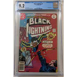"""1977 """"Black Lightning"""" Issue #2 DC Comic Book (CGC 9.2)"""