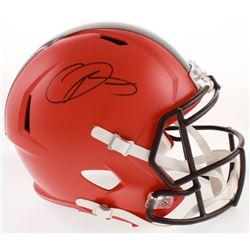 Odell Beckham Jr. Signed Cleveland Browns Full-Size Speed Helmet (JSA COA)