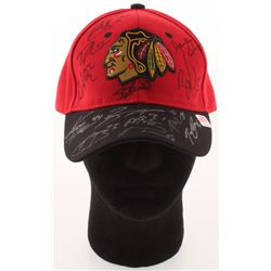 2014-15 Chicago Blackhawks Hat Signed by (13) with Teuvo Teravainen, Duncan Keith, Scott Darling, Kr