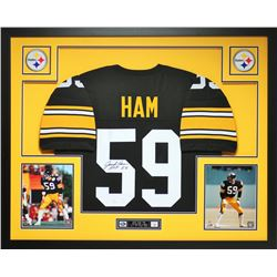 "Jack Ham Signed 35x43 Custom Framed Jersey Inscribed ""HOF 88"" (JSA COA)"