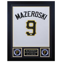 Bill Mazeroski 24x30 Custom Framed Jersey Display (JSA COA)