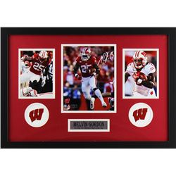Melvin Gordon Signed Wisconsin Badgers 18x27 Custom Framed Photo Display (Radtke COA)