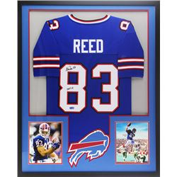 "Andre Reed Signed 34x42 Custom Framed Jersey Inscribed ""HOF 14"" (Radtke COA)"