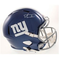 Dexter Lawrence Signed New York Giants Full-Size Speed Helmet (Beckett COA)