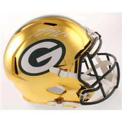 Jordy Nelson Signed Green Bay Packers Full-Size Chrome Speed Helmet (JSA COA)