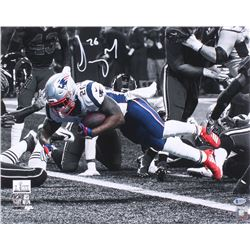Sony Michel Signed New England Patriots Super Bowl Llll 16x20 Photo (Beckett COA)
