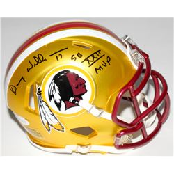 "Doug Williams Signed Washington Redskins Blaze Mini Speed Helmet Inscribed ""SB XXII MVP"" (JSA COA)"