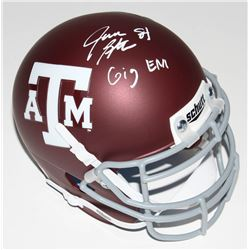 "Jace Sternberger Signed Texas AM Aggies Mini-Helmet Inscribed ""Gig EM"" (JSA COA)"