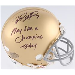 """Will Fuller Signed Notre Dame Fighting Irish Mini-Helmet Inscribed """"Play Like A Champion Today"""" (JSA"""