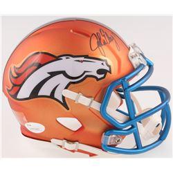 John Elway Signed Denver Broncos Blaze Speed Mini-Helmet (JSA COA)