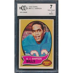 1970 Topps #90 O. J. Simpson RC (BCCG 7)
