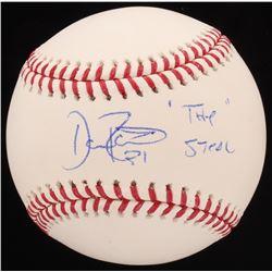 "Dave Roberts Signed OML Baseball Inscribed ""The Steal"" (JSA COA)"