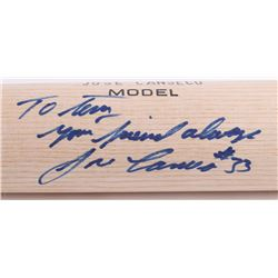 """Jose Canseco Signed Worth Player Model Baseball Bat Inscribed """"My Friend Always"""" (Beckett COA  Terry"""