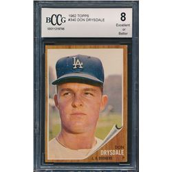 1962 Topps #340 Don Drysdale (BCCG 8)