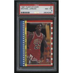 1987-88 Fleer Stickers #2 Michael Jordan (PSA 8)