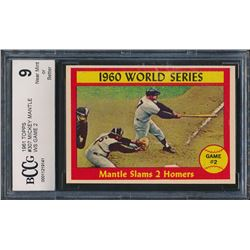 1961 Topps #307 World Series Game 2 / Mickey Mantle (BCCG 9)