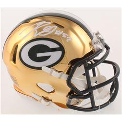 Rashan Gary Signed Green Bay Packers Chrome Speed Mini-Helmet (Radtke COA)