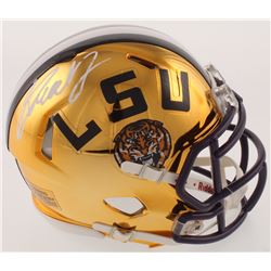 Greedy Williams Signed LSU Tigers Chrome Speed Mini-Helmet (Radtke COA)