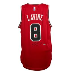 Zach LaVine Signed Chicago Bulls Fanatics Jersey (Fanatics Hologram)