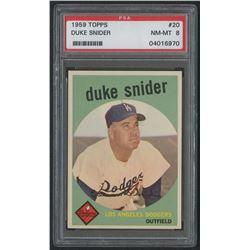 1959 Topps #20 Duke Snider (PSA 8)