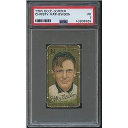 1911 T205 Gold Border #124 Christy Mathewson (PSA 1)