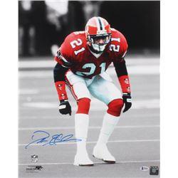 Deion Sanders Signed Atlanta Falcons 16x20 Photo (Beckett COA)