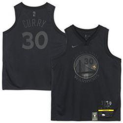 Stephen Curry Signed Golden State Warriors Nike Black MVP Jersey (Fanatics Hologram)
