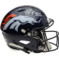 "Peyton Manning Signed Denver Broncos Full-Size SpeedFlex Helmet Inscribed ""SB 50 Champs"" (Fanatics H"