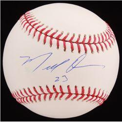 Marcell Ozuna Signed OML Baseball (JSA COA)