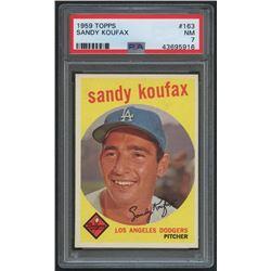 1959 Topps #163 Sandy Koufax (PSA 7)
