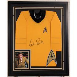 """William Shatner Signed """"Star Trek"""" 34x42 Custom Framed Uniform Shirt (JSA COA)"""